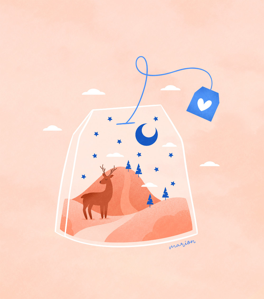 "Illustration ""thé"" par Paulina Chovela"