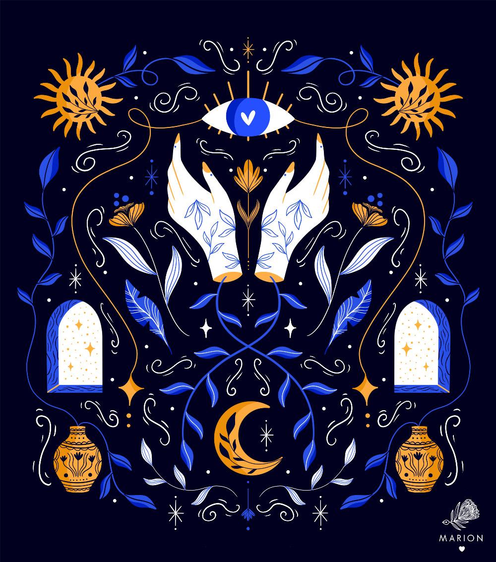 Illustration Magical Symmetry par Paulina Chovela