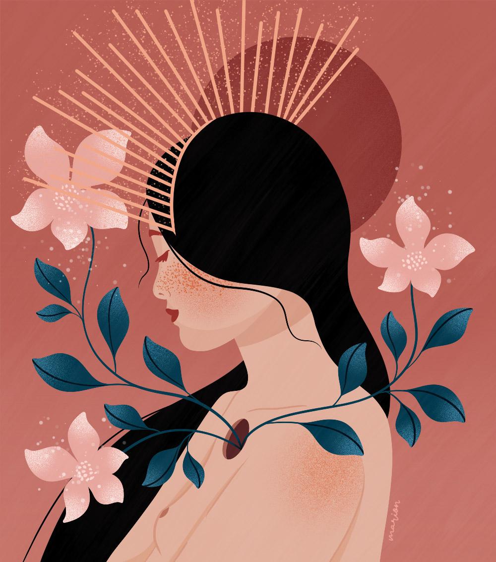 "Illustration ""Queen"" par Paulina Chovela"