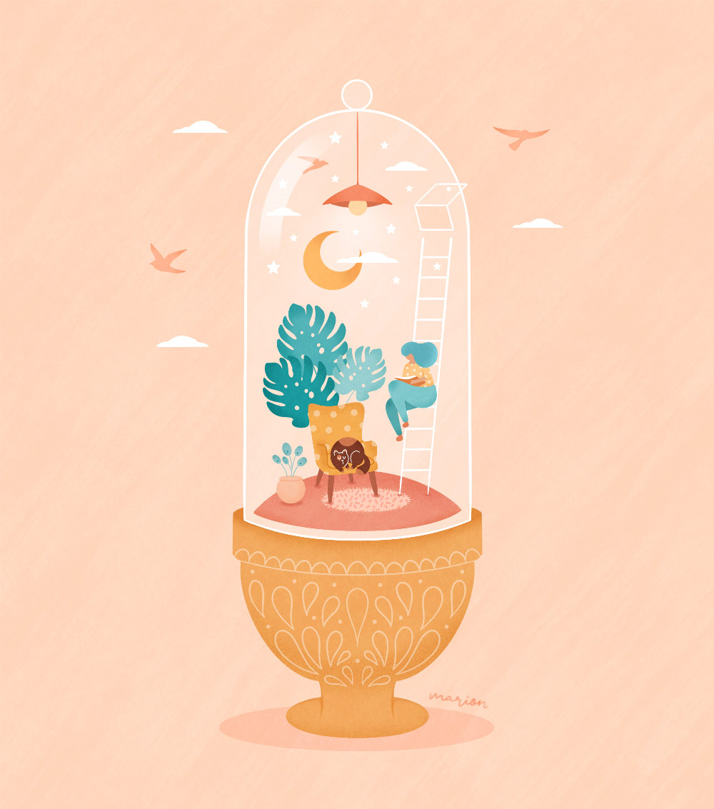"Illustration ""Capsule"" par Paulina Chovela"