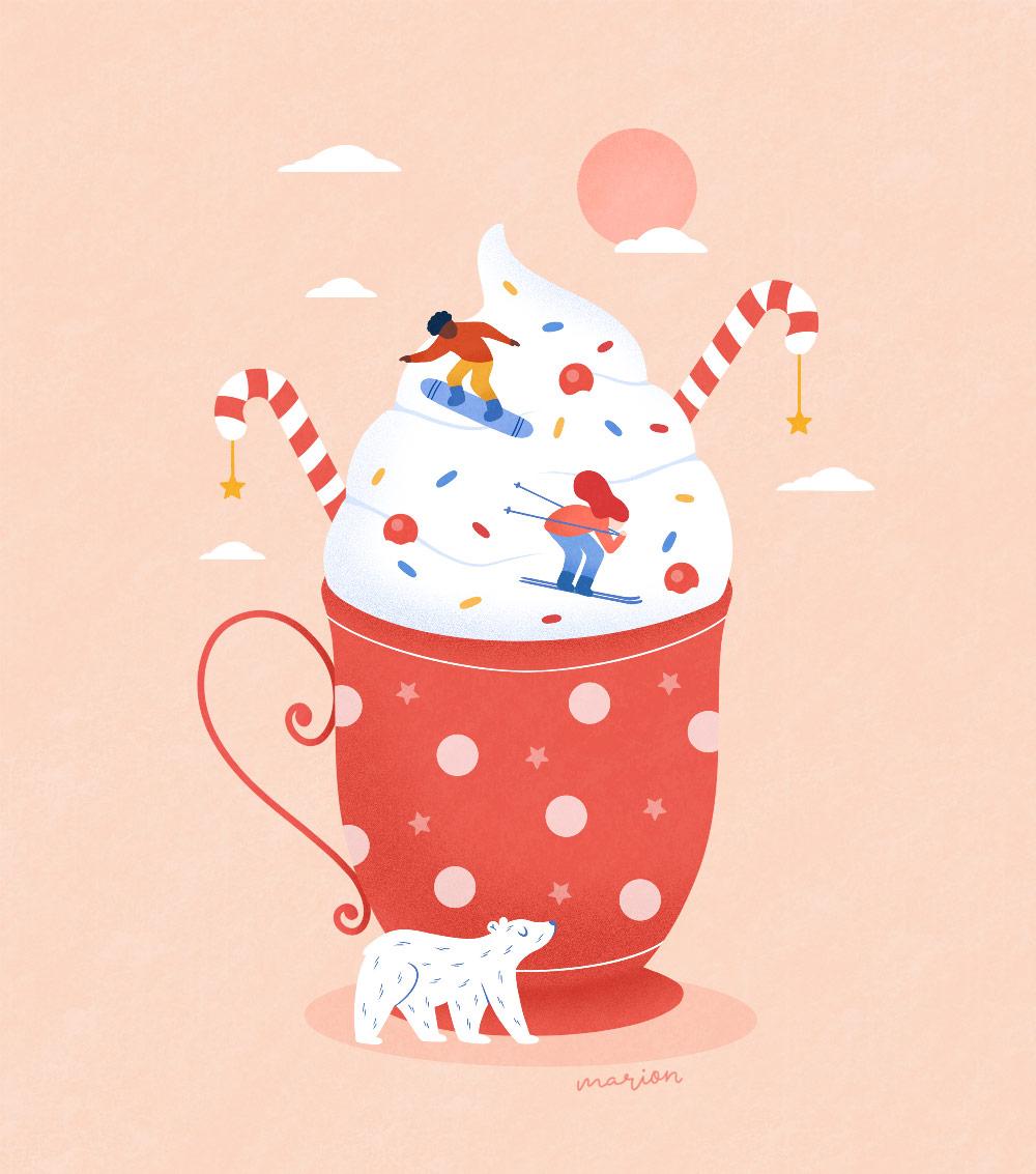 "Illustration ""Mug"" par Paulina Chovela"